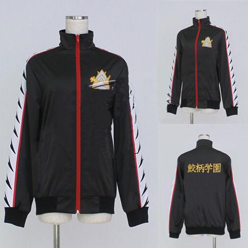 Deluxe Free Iwatobi Swim Club Cosplay Rin Matsuoka Cosplay Costume Coat Jacket Suit with Samezuka Academy Logo Cosplay Uniform(China (Mainland))