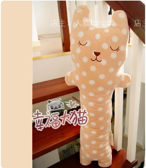 Free Shipping 1m Big Polka Dot Plush Toys Cushion Pillow Stuffed Animal Baby Dolls Best Gift(China (Mainland))