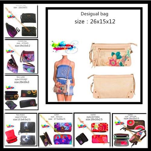 2015 New Fashion spain Brand desigual bag Handbag Leather Shoulder Bags Women Messenger Travel desigual Bags Tote spain wallet(China (Mainland))