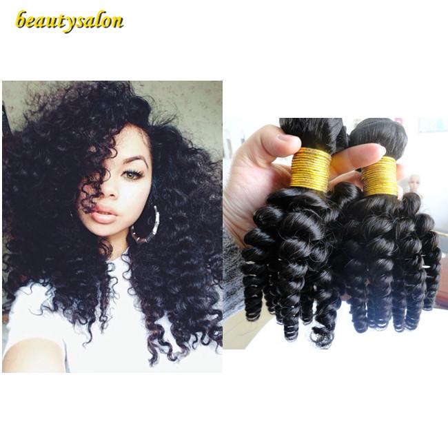 Hot Selling Unprocessed Funmi Hair Bouncy Curl Brazilian Virgin Hair Curly Nigeria Aunty Funmi Hair 3pcs/lot  Human Hair<br><br>Aliexpress