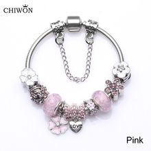 3 Colors 925 Silver Heart Love Charm Bracelet Silver with Safety Chain & Pink Pandora Bracelet Authentic Jewelry BL038(China (Mainland))