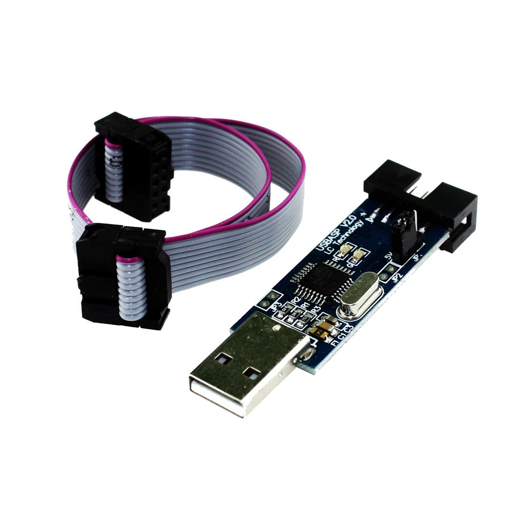 Free Shipping USBASP USBISP AVR Programmer USB ISP USB ASP ATMEGA8 ATMEGA128 Support Win7 64K(China (Mainland))