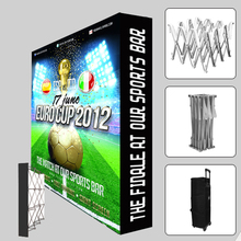 Portable 10ft pop up display trade show display booth banners stand with custom graphic printing(China (Mainland))