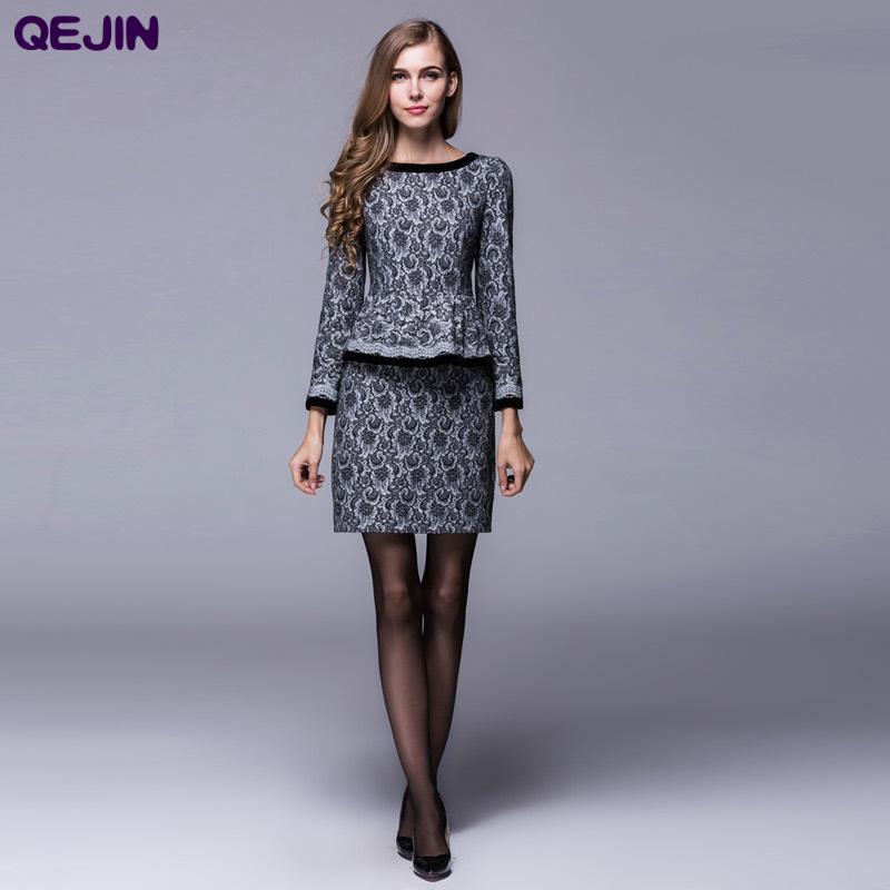 Wool dress sale long sleeve O-neck package hip ripe female autumn winter wear plus size BLACK BEIGE COLOR 3XL - Sharewin Fashion(QEJIN store Co.,ltd)