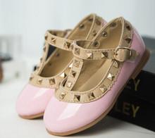 Bekamille 2019 חדש בנות סנדלי ילדי עור נעלי ילדי מסמרות פנאי סניקרס חם בנות נסיכת נעלי ריקוד(China)
