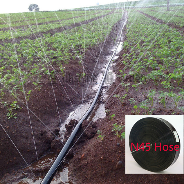 50 Meters Garden Drip Tape Irrigation Kit N45/1'' Hose Watering System Flat drip line 0.19mm thickness(China (Mainland))
