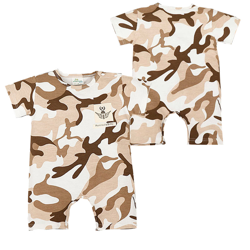 Summer Camouflage Rompers Cool Baby Boy Girl Rompers Army Style Short Sleeve Jumpsuit Newborn Onesie Conjunto Infantil Menino(China (Mainland))