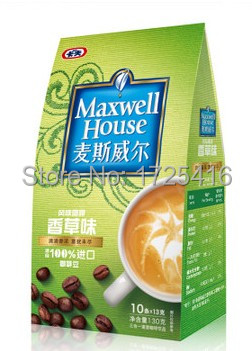 Imported coffee 3 in 1 coffee flavors vanilla 130g free shipping
