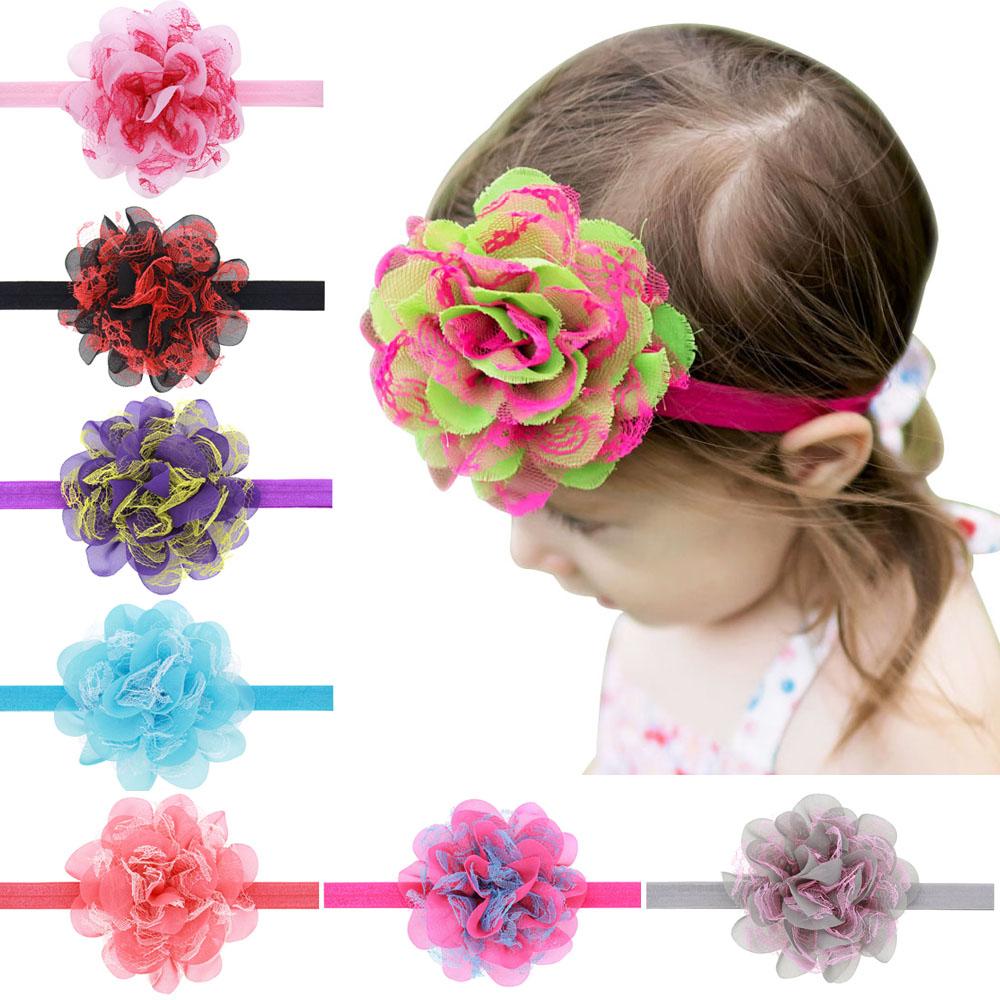1PC Headwear Newborn Baby Girls Satin Ribbon Flower Headbands Photography Props Infant Baby Headband children Accessories h163(China (Mainland))
