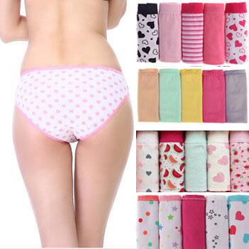 5 PCS/Lot Ladies Panties Cotton underwear Women Cuecas Sexy Lingerie Bragas Calcinhac Ladies Intimates briefs Plus Size(China (Mainland))