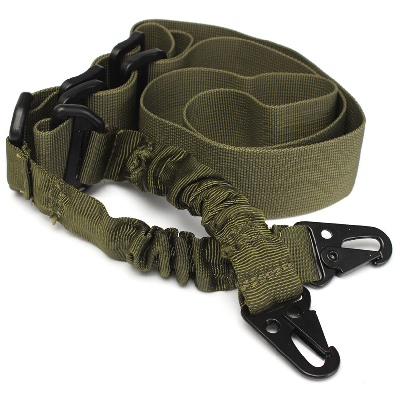 Nylon Multi function Adjustable Two Point Tactical Rifle Sling Hunting Gun Strap Outdoor Airsoft Mount Bungee