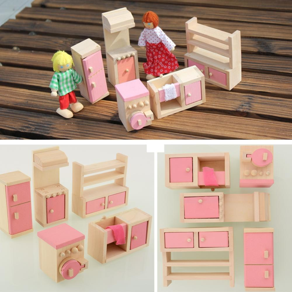 Miniature Dollhouse Kitchen Furniture Popular Miniature Dollhouse Kitchen Sets Buy Cheap Miniature