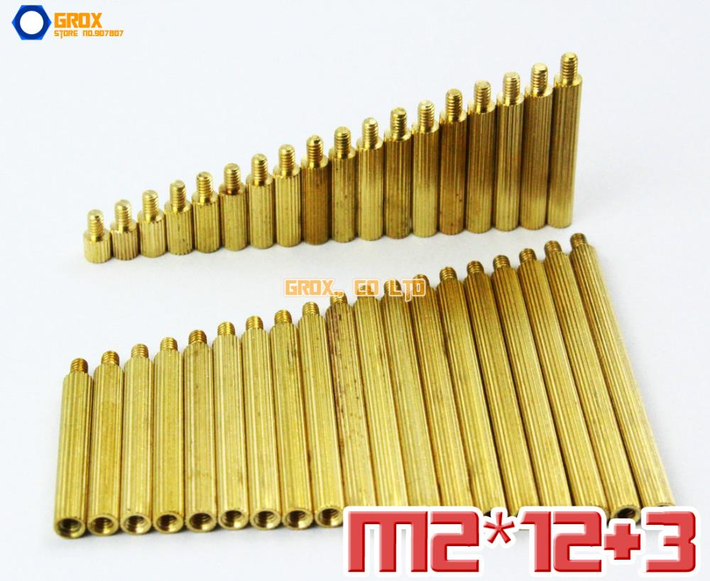 200 Pieces Brass M2 x 12 + 3mm PCB Female to Male Motherboard Standoff Spacer<br><br>Aliexpress