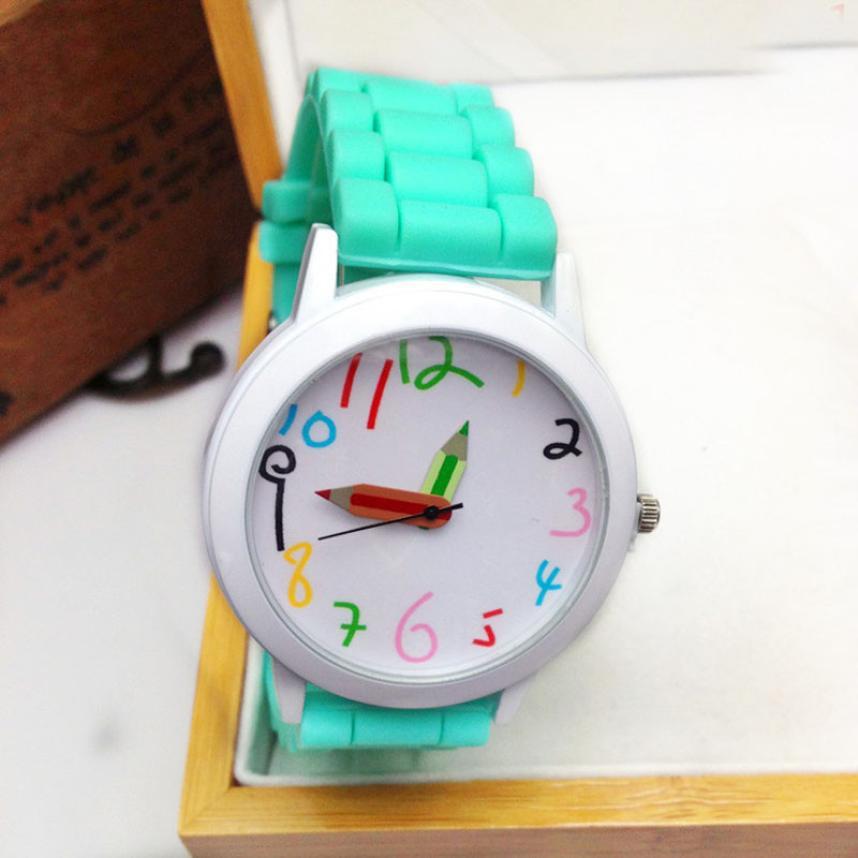 Гаджет  landfox 2015 new fashion unisex watches pencil pointer cute number ladies wrist watch uhr kids silicone watches gifts orologi None Часы