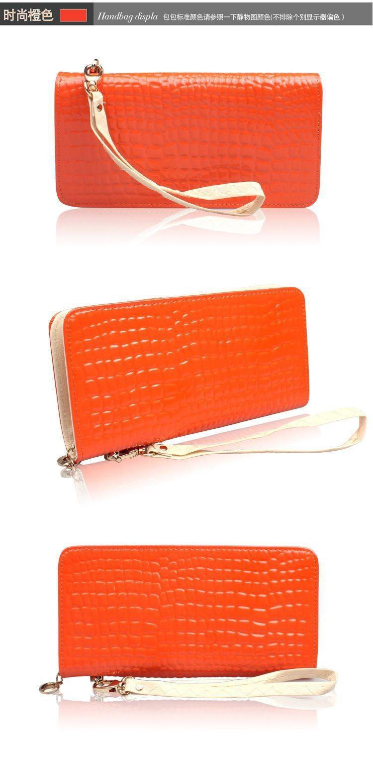 женщины точка моды лакированная кожа сумка кошельки высокого качества леди сцепления телефон кошельки старинные монеты молнии карманов кошельки 11220