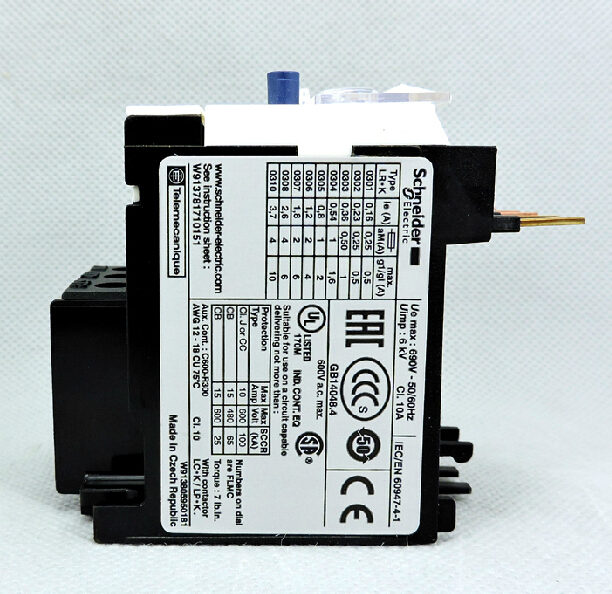 Thermal relay thermal overload relay LR2K0308 1.8-2.6A <br><br>Aliexpress