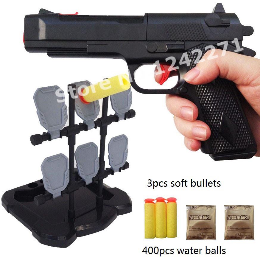 Target Toy Guns : Gun toys with target soft bullet water balls pistol