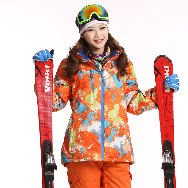 Dropshipping new 2015 Warm Skiing Jackets Winter Windproof Outdoor Hiking Sports Waterproof Jacket suit snowboard jacket women(China (Mainland))