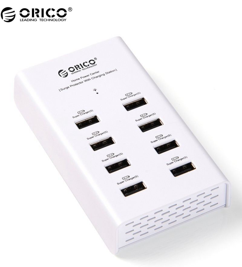 ORICO DUB-8P 96W 8 Port USB Desktop Charger For Tablet / PC - White(China (Mainland))