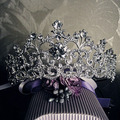 18K White Gold Plated Vintage Rhinestone Bridal Tiara Wedding Hair Accessories Crystal Pageant Crowns Wedding Tiaras