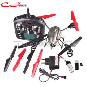 Free shipping WL V959 Lastest 2.4G 4-Axis 4CH RC Quad Copter Helicopter with Camera, Lights and Gyro V969 V979 V989 V999