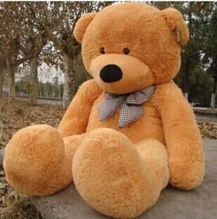 2015 New Arriving Giant 180CM/70''inch TEDDY BEAR PLUSH HUGE SOFT TOY 1.8m Plush Toys Valentine's Day gift/ Birthday gifts brown(China (Mainland))