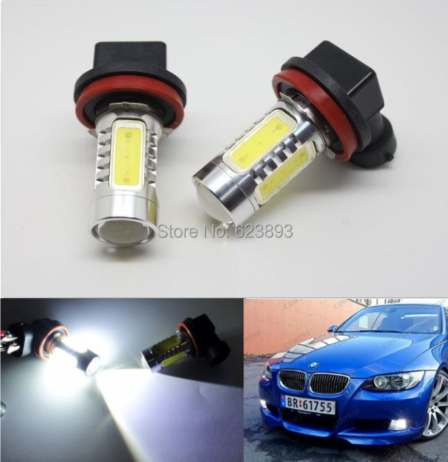 Free shipping, 2x No error Bright White 9006/HB4 LED Fog Light Daytime Running Light Bulb For BMW E46 330ci(China (Mainland))