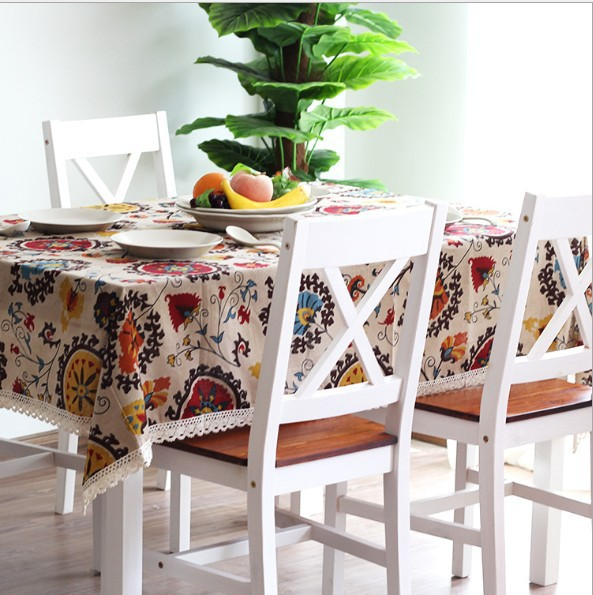TLFE Home Textile Europe Decorative Handmade Linen Lace Wedding Tablecloth For Dining Table Cover Cloth toalha de mesa ZB202(China (Mainland))