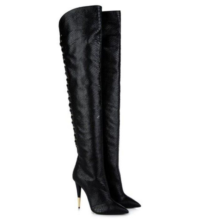 Arrival free shipping suede thigh high boots sexy lace up stiletto high heels fashion fall boots(China (Mainland))