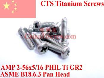 Titanium screws 2-56x5/16  Pan  Head<br><br>Aliexpress