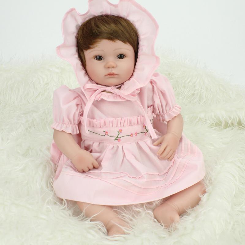 Фотография 17inch Lifelike Reborn Baby Soft Silicone Reborn Dolls Real Touch Doll Newborn Babies For Play House Toys Accompany Sleep Doll