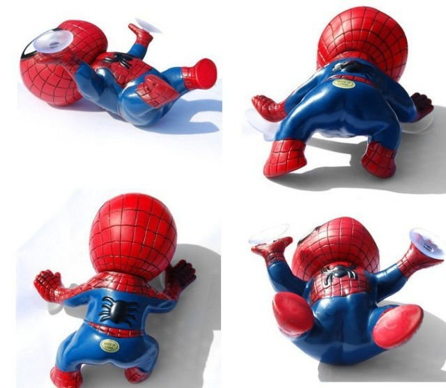 Anime spiderman Toy Window Climbing red black Spider-Man Doll toys Car Home Interior Decoration With suction cups kids toys(China (Mainland))