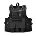 Military Tactical Vest Tactical Molle Army Polyester Combat Vest Airsoft War Game Black Outdoor Hunting Vest