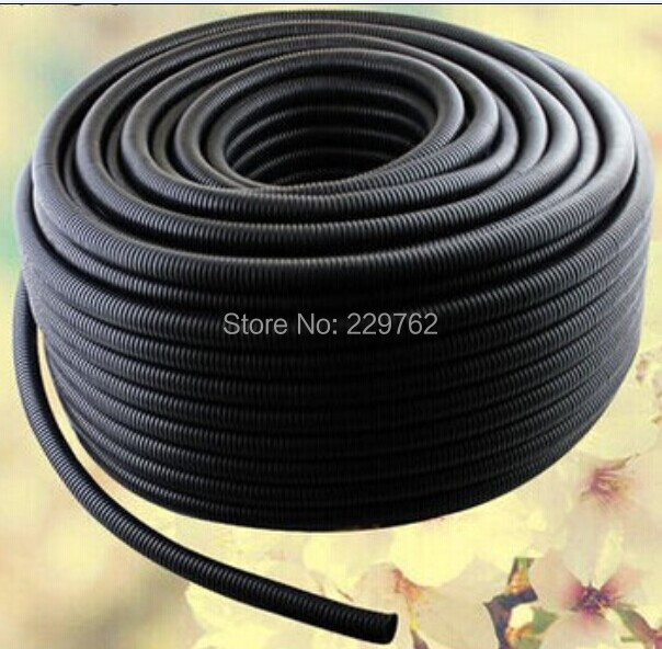 Wholesale 100M Free Shipping 7mm casing corrugated tube car corrugated tube pipe insulation wire harness casing threaded pipe<br><br>Aliexpress