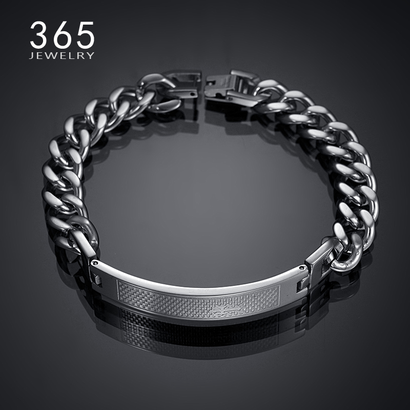 Fashion Mens Jewelry 2016 Stainless Steel Cross Wristband Biker Bracelet Punk Snap Button Hand Chain Men's Bracelets for Men(China (Mainland))