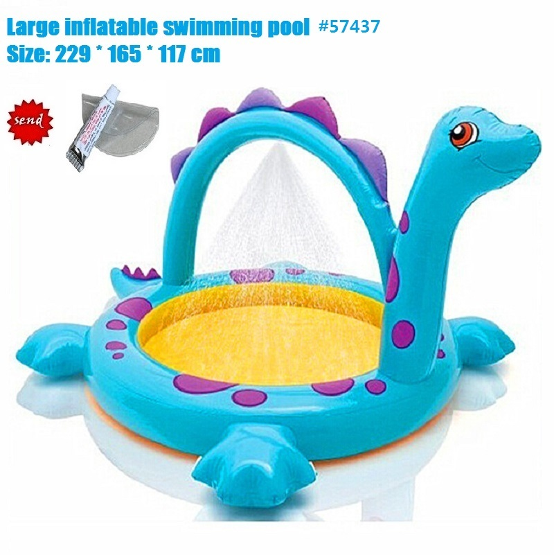 Large Inflatable Round Swimming Pool Dinosaur spray pool Top-ring Support Kids Inflatable Baby Swimming Pool family Play Pool(China (Mainland))