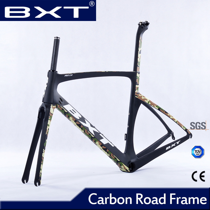 2016 cheap carbon road frame bike racing bicycle frameset Size 49- 56cm chinese carbon frames cadre carbone route 2016(China (Mainland))