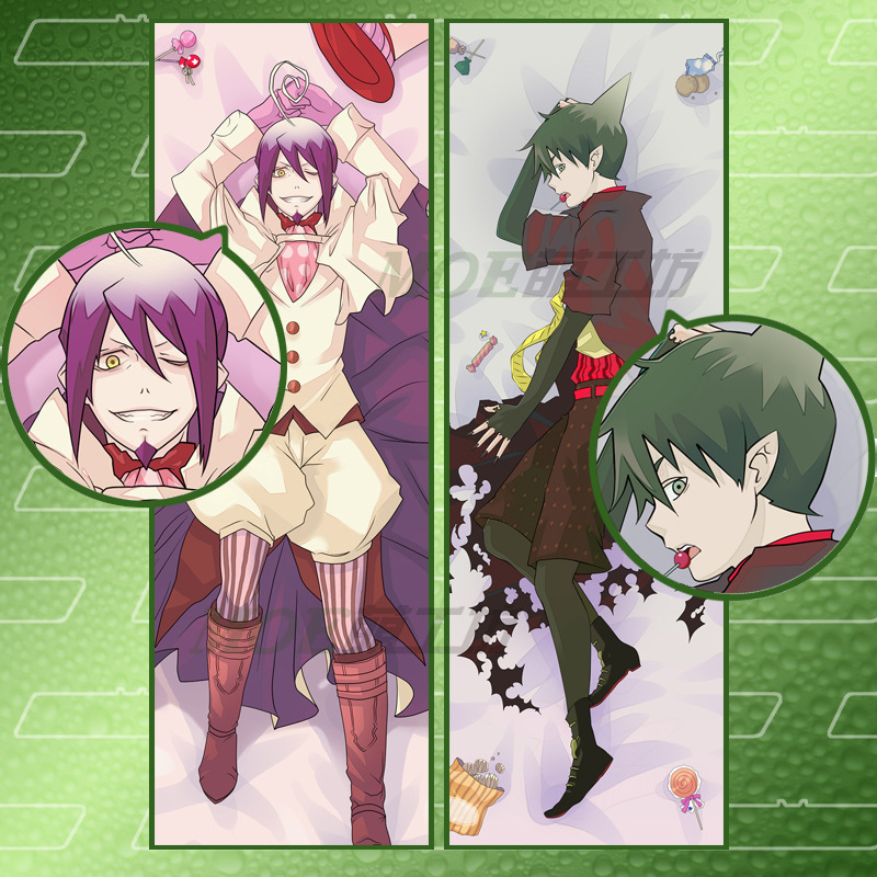 Japan animeBlue Exorcist Decorative Hugging Body Pillow Cover Case Double-sided 59.06 inchx19.69 inch - Wild Goose-- YAN FU store