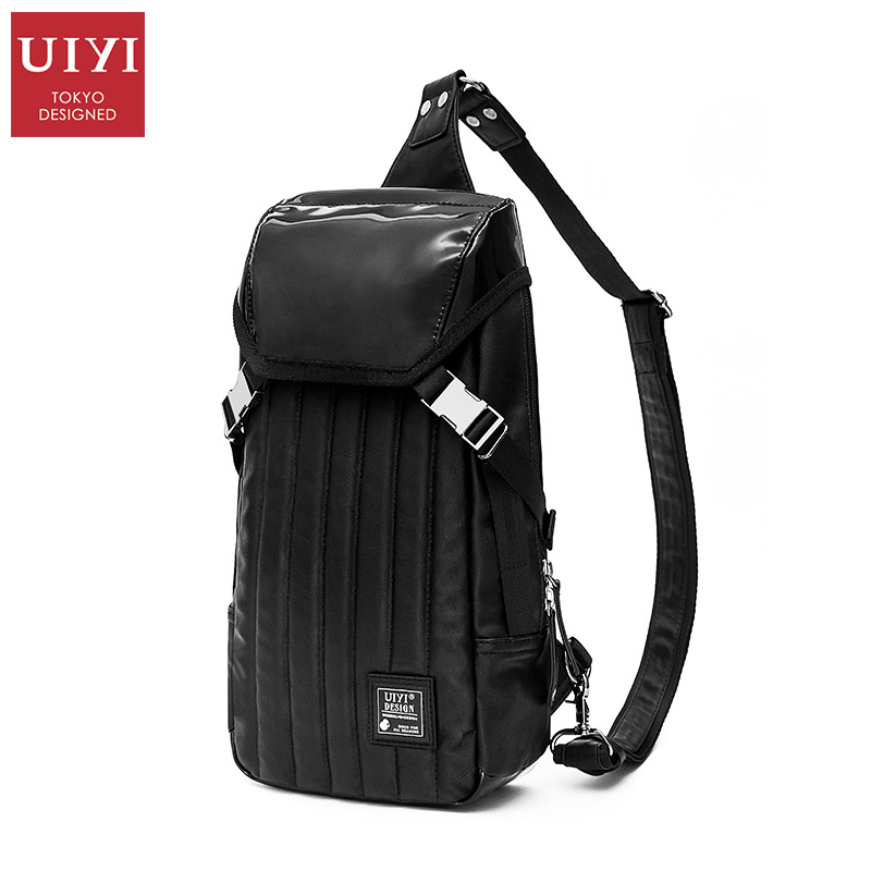 UIYI Brand PU Leather Chest Pack Fashion Men Travel Bags Messenger Bag Multifunctional Shoulder Bag Specialized Ipad Mini Bags(China (Mainland))