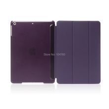 For Apple iPad 2/3/4 case Ultra Slim intelligent protection one-piece Magnetic Smart Cover Leather shell with Matte back case(China (Mainland))