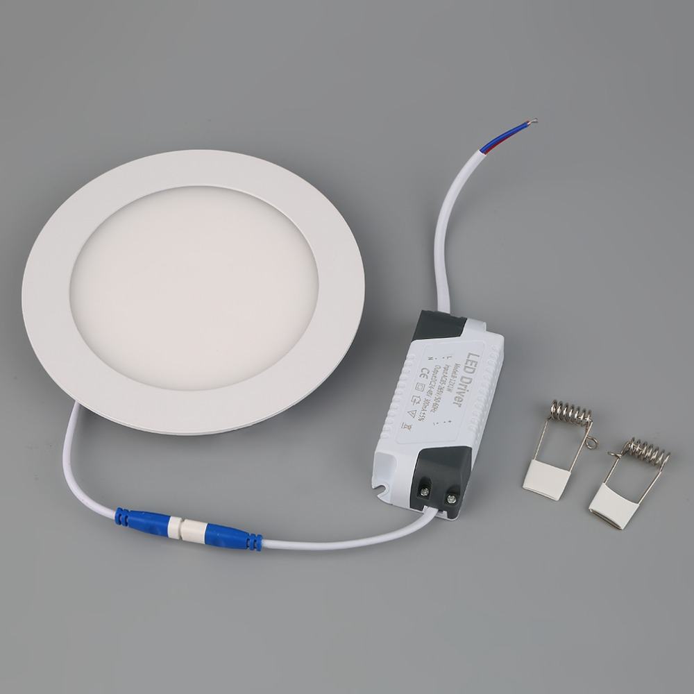 9W Ultra Thin Dimmable LED Recessed Ceiling Panel Down Lamp Warm/Cool Light(China (Mainland))