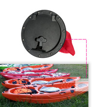 25cm Outer Diameter Deck Plate with Storage Bag Cover Kit for Boat Kayak Black & Red(China (Mainland))