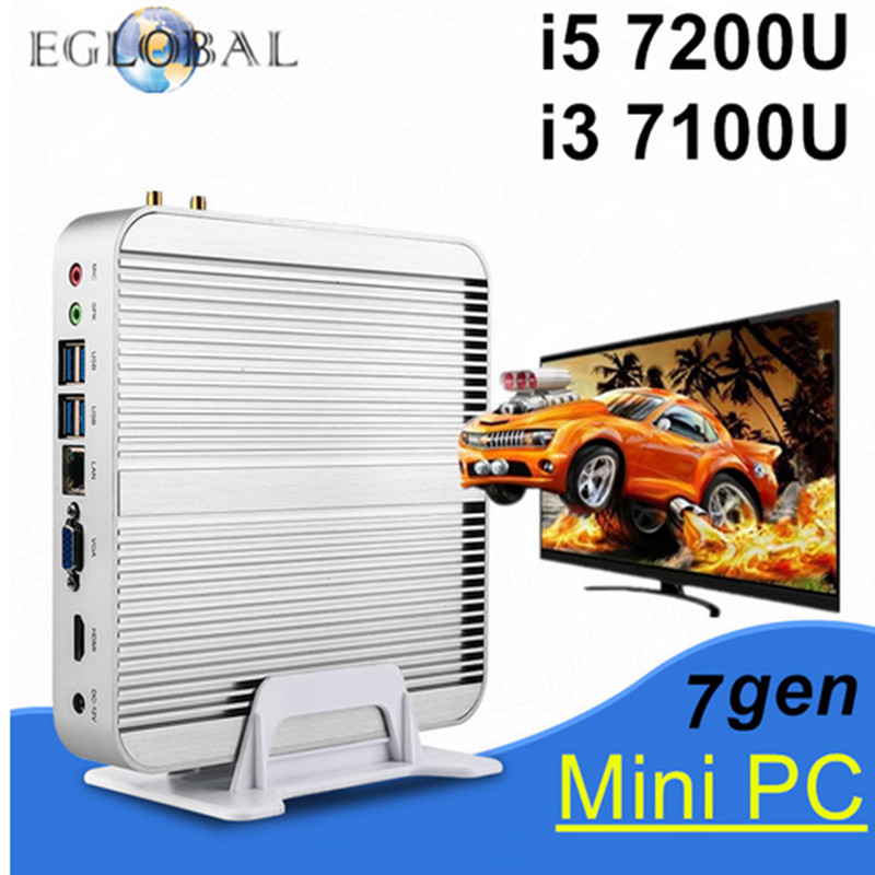 Eglobal Multimedia Mini Pc 4k Windows 10 Intel Nuc Core i3 7100U i5 7200U Barebone Intel HD Graphics 620 4GB 8GB 16GB RAM VGA(China (Mainland))