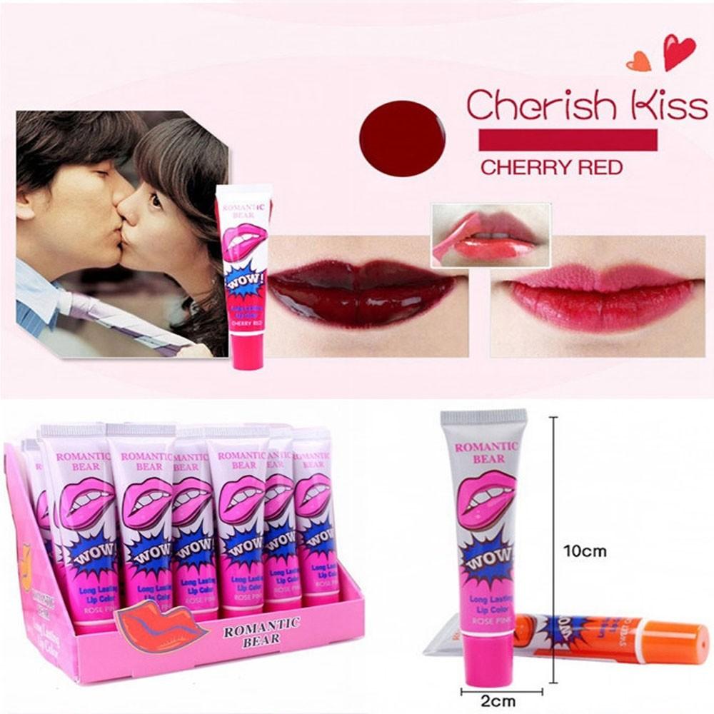 Romantic Bear Women Girls New Brand Lip Gloss matte waterproof TATTOO Magic Color Peel Mask Tint Pack Long Lasting Makeup lips