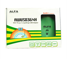 New High Power ALFA AWUS036NH 2000mw Wifi USB Adapter 5db Antenna Receiver Card Ralink3070 Chipset Dropshipping