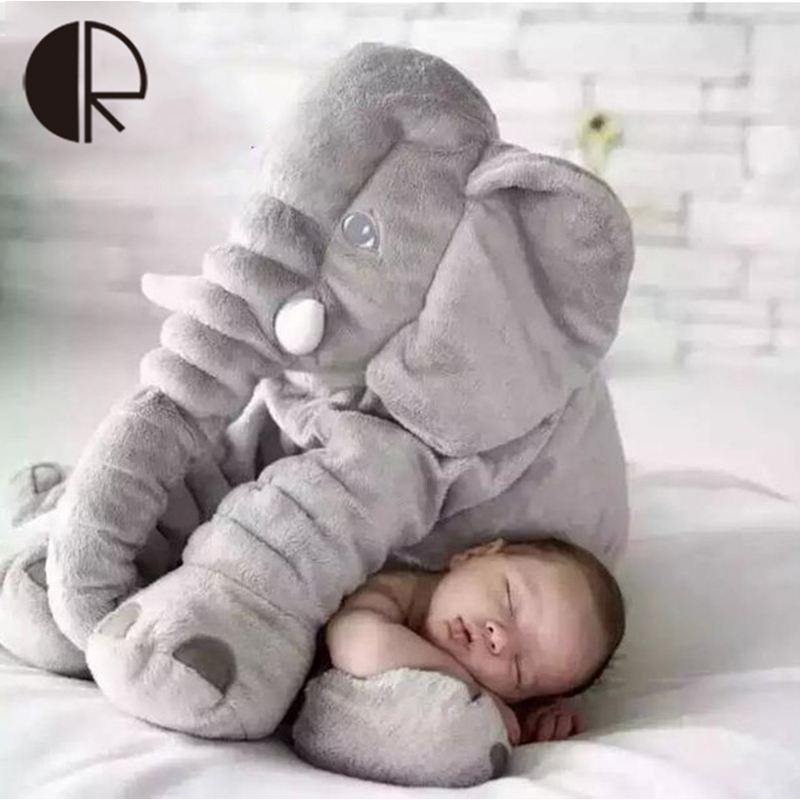 Free Shipping 40cm Cute Plush Elephant Dolls Brinquedos Baby Sleeping Cushion/Pillow Children Playmate Stuffed Toy for Kids Gift(China (Mainland))