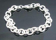 Bracelet wholesale! Free shipping fashion bracelet, 925 sterling silver bracelet. Vesicular chain bracelet B68(China (Mainland))