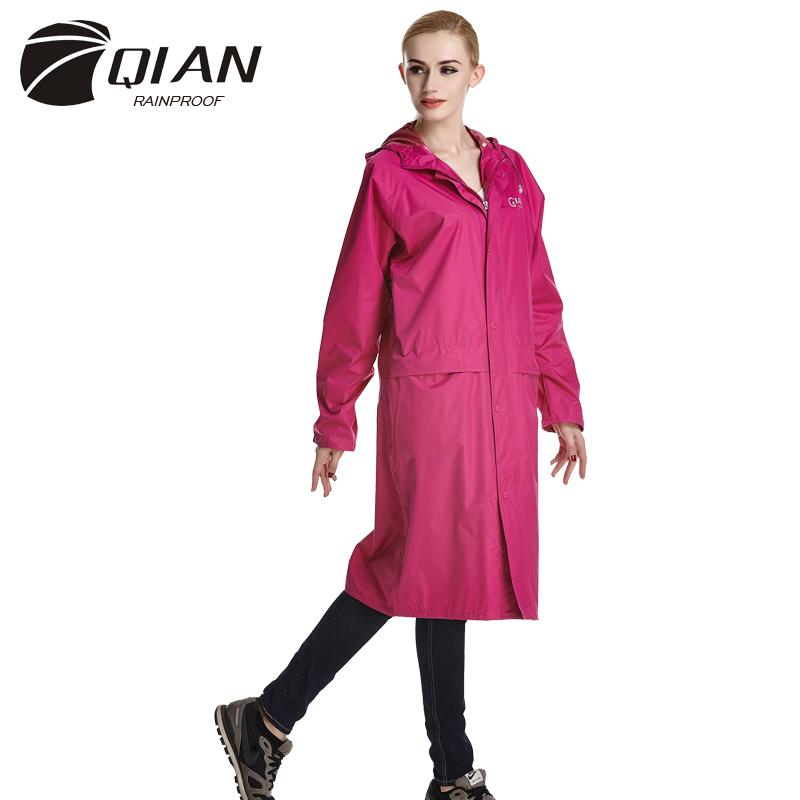 QIAN RAINPROOF Impermeable Long Style Raincoat Adults Waterproof Trench Coat Poncho Rain Coat Female Rainwear Rain Gear Poncho(China (Mainland))