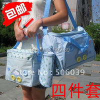free shipping Multifunctional diaper bags nappy bags 4PCS/ set mummy bags mother bag