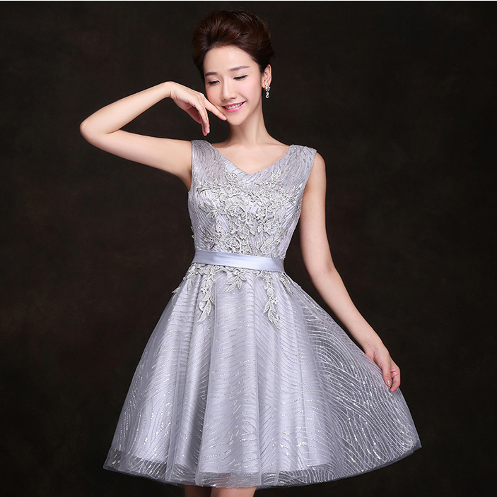 Popular Silver Cocktail Dresses for Women-Buy Cheap Silver ...